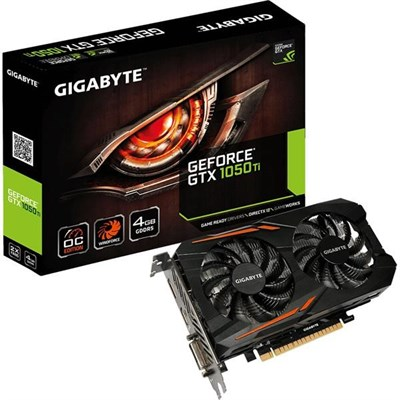 Gigabyte GV-N105TOC-4GD GeForce® GTX 1050 Ti OC 4GB
