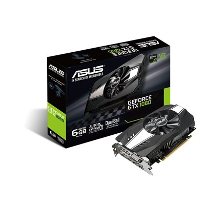 ASUS PH-GTX1060-6G GDDR5 6GB 192-bit Powered By NVIDIA GeForce GTX 1060