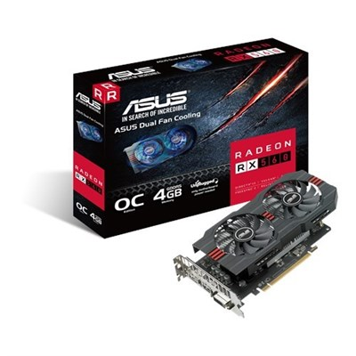ASUS RX560-O4G GDDR5 4GB 128-bit Powered by AMD Radeon RX 560