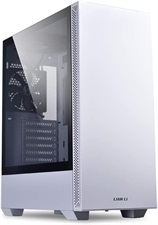 Lian Li LANCOOL 205 Tempered Glass Side Panel Mid-Tower ATX Computer Case PC Gaming Case (White)