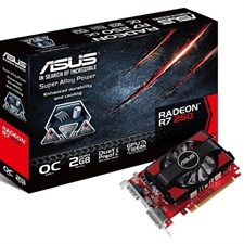 Asus R7250-Oc-2Gd3 PCIE 3.0 Graphic Card (2GB , DDR3, 128 Bit, 1800MHz)