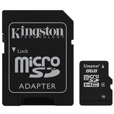 Kingston microSD 8GB Memory Card
