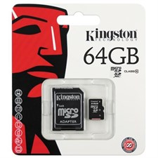 Kingston 64GB microSD XC Class 10 Card - SDCX10/64GB