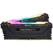 CORSAIR VENGEANCE RGB PRO 32GB (2 x 16GB) DDR4 DRAM 3200MHz C16 Memory Kit — Black