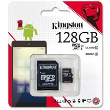 Kingston microSDXC 128GB Class 10 Memory Card