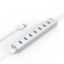 ORICO H7013-U3-SV Aluminum 7 Port USB3.0 Hub for Windows XP / Vista / 7 / 8 / 10 / Linux / Mac OS