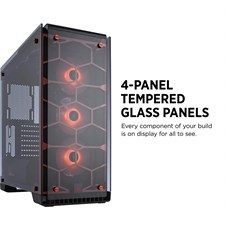 Corsair Crystal Series™ 570X RGB ATX Mid-Tower Case — Red