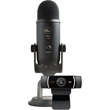 Blue Microphones - Pro Streamer Pack with Blue Yeti USB Microphone & Logitech C922 Pro HD Webcam (98