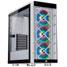 Corsair iCUE 465X RGB Mid-Tower ATX Smart Case — White CC-9011189-WW