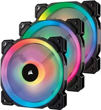 Corsair LL120 RGB 120mm Dual Light Loop RGB LED PWM Fan — 3 Fan Pack with Lighting Node PRO - CO-905