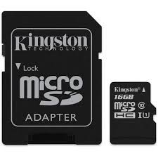 Kingston microSD 16GB Class 10 Memory Card