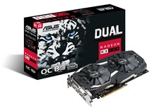 ASUS DUAL-RX580-O8G-GAMING GDDR5 8GB 256-bit Powered by AMD Radeon RX 580