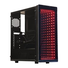 Raidmax Galaxy ATX Mid Tower PC Gaming Computer Case with Front Panel ARGB LED Mirror Effect
