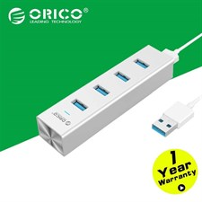 ORICO H4013-U3-SV Aluminum 4 Port USB3.0 Hub for Windows XP / Vista / 7 / 8 / 10 / Linux / Mac OS