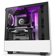NZXT H510i Compact Mid-Tower Case with Lighting and Fan Control (Matte White)